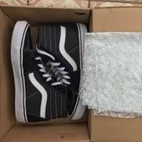 Sepatu Vans Sk8 High Black White Original Global MURAH