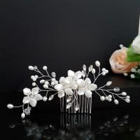 Hiasan Rambut Aksesoris Sanggul Bunga Pesta Pengantin Wedding S74