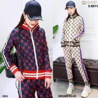 baju jacket set celana merk gucci seri 8011