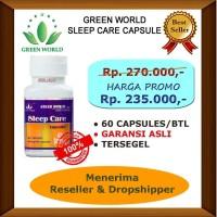 Green World Sleep Care Capsule Asli Promo - Obat Penyakit Insomnia
