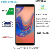SAMSUNG Galaxy A7 2018 - 4GB-64GB - Blue - Garansi Resmi Berkualitas