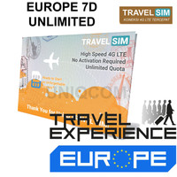 Travelling Internet Sim Card Travel Sim Europe 7d