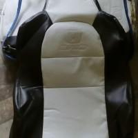 Dijual Sarung Jok Mobil Honda Brio Hitam Putih Bahan Ferari Disko