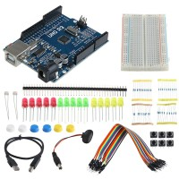 Run 1 Set Starter Kit UNO R3 Breadboard LED untuk Arduino