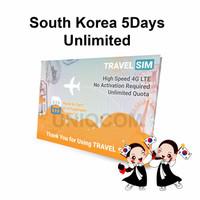 Travelling Internet Sim Card Travel Sim South Korea 5d