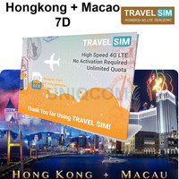 Travelling Internet Sim Card Travel Sim Hk-macao 7d