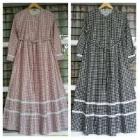 Gamis katun jepang original gamis kotak Square renda baju wanita