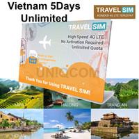Travelling Internet Sim Card Travel Sim Vietnam 5d