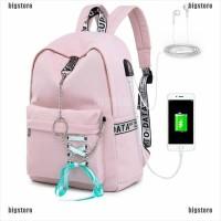 [Big] Tas Ransel Sekolah / Travel Anti Air dengan Charger USB untuk