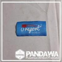 Badge / bed / patch / Tiska U Report Woven