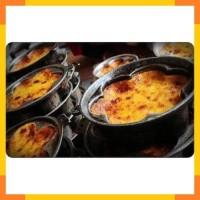 Cetakan kue Bingke loyang makanan khas tradisional bingka + Tutup