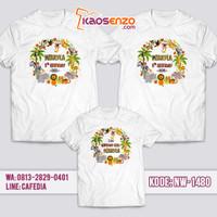 Jual Baju Couple Keluarga / Kaos Ulang Tahun Anak Animal Zoo NW 1480
