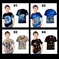 2s5 - Kaos Baju Anak New Sonic The Hedgehog 2020 Fullprint Custom