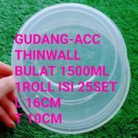 ThinWall 1500Ml Bulat Bowl Mangkok 1500 Ml Mangkuk Bulat Bakso Kotak