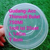 ThinWall 750Ml Bulat Bowl Mangkok 750 Ml Mangkuk Bulat Bakso Kotak