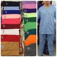 Baju ok oka LENGAN PANJANG / baju jaga perawat rumah sakit