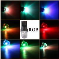 Lampu Led Sen Sein Colok T10 7 Multi Warna RGB Bulb Kedip Mobil Motor