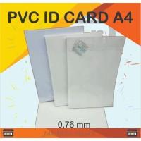 Bahan Pvc ID Card/ Pvc Kertas ID Card 1 Pak Isi 50 Pcs Ukuran A4