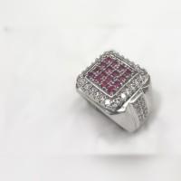cincin batu permata king RUBY 16 SET MATA super elegan