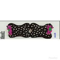 Bantal Mobil sandaran kepala /Tulang Boneka Barney Print Hitam