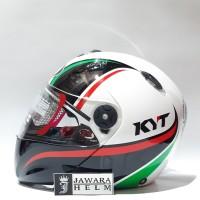 HELM KYT X ROCKET 2 MOTIF WHITE BLACK GREEN RED