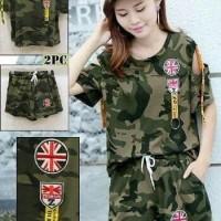 Baju Wanita Army Set |555-6| Catun