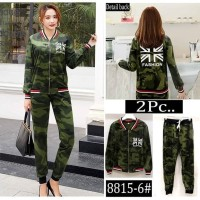 Baju Wanita Army Panjang Set |8815-6| Catun
