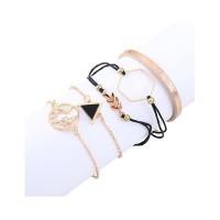 Gelang Korea Forever21 Triangle Leaf Bracelet Set