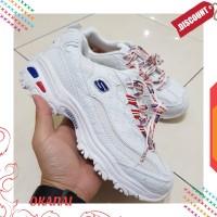 DISKON skechers dlites heritage pearl white /sneakers wanita/ sepatu