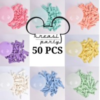 Balon Latex Macaron Isi 50 Pcs / Balon Pastel / Balon Karet