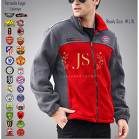 jaket bola bayern munhcen sweater fleece combine cowok laki pria sport