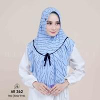Jilbab Arrafi AR 362 Kerudung motif Hijab Instan