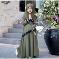 Syari Genice Kids / Baju Muslim Anak cewe/ Baju Gamis Anak