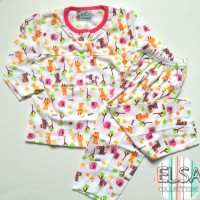 Baju Bayi / Setelan Anak Perempuan Usia 6-15 Bulan Motif Jerapah Lucu