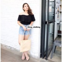 Top Sabrina Basic (Pilih Warna)/ Off Shoulder Blouse