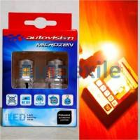 Autovision Microzen LED WY21W Amber Canbus No Hyper Flash Lampu Sein