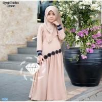 syari Genice Kids mocca / Baju Muslim Anak cewe/ Baju Gamis Anak