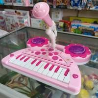 ELECTRONIC ORGAN Mainan Anak Piano Microphone Musik