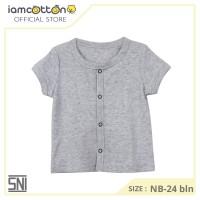 I am Cotton Baju Bayi Pendek Kancing Depan Misty