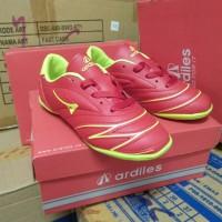 Sepatu futsal anak Ardiles merah hijau Size 30-33 Original