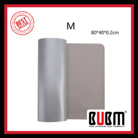 BUBM Office Mouse Pad Desk Mat Bahan Kulit 40 x 80cm - BGZD-M - Gray