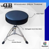 Bangku Drum DB Percussion Standard DTR 416 / Kursi Throne Model Bulat