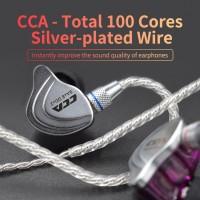 【 COD 】 Headset cca 100 Core 4 Untai Untuk HiFi c10 c16 Earphone