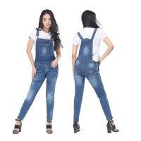 HG1INF,Jumsuit overall baju kodok denim anak remaja cewek perempuan