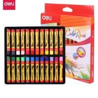 Deli EC20220 School Crayon/Krayon-Oil Pastel Rich Color 24C /crayon 24