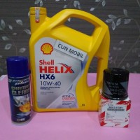 Paket oli mesin Shell HX6 10W-40 Great , Vios, Soluna, Limo 3item