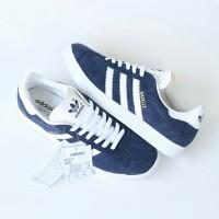 Sepatu Adidas Gazelle Navy white original Made in Indonesia