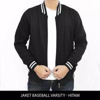 Jaket Varsity Zipper Resleting Polos 6 WARNA