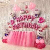 Dekorasi Ulang Tahun Hello Kitty Set Hati Lubang