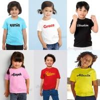 kaos anak bayi balita sablon nama sendiri | custom nama baju kaos